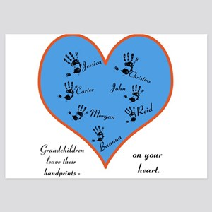 Handprints on your heart - 7 kids 5x7 Flat Cards