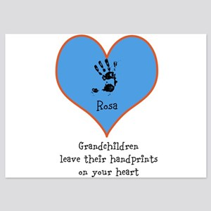 handprints on your heart - 1 grandchild 5x7 Flat C