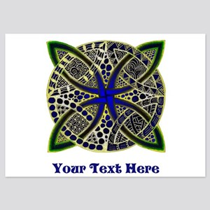 Customize this Symbolic Celtic Knot Doodle 5x7 Fla