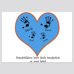 Personalized handprints 4 grandkids Invitations