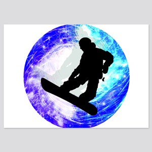 Snowboarder in Whiteout Invitations
