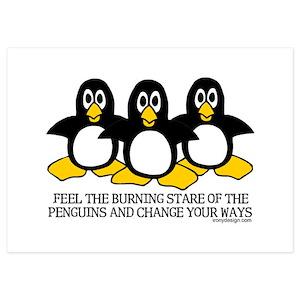 Evil Penguin Invitations And Announcements Cafepress