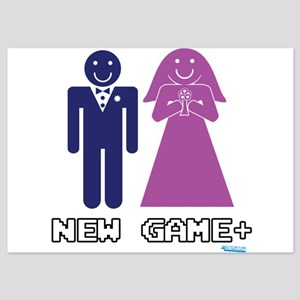 New Game + Marriage 5x7 Flat Cards