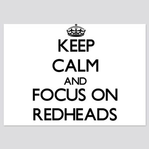 Keep Calm and focus on Redheads Invitations