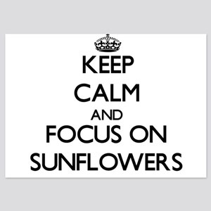 Keep Calm and focus on Sunflowers Invitations