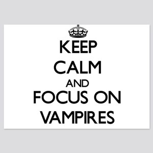 Keep Calm by focusing on Vampires Invitations