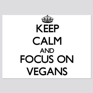 Keep Calm by focusing on Vegans Invitations