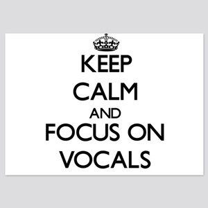 Keep Calm by focusing on Vocals Invitations