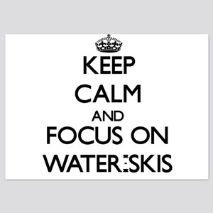 Keep Calm by focusing on Water-Skis Invitations