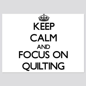 Keep Calm by focusing on Quilting Invitations