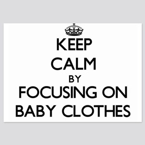 Keep Calm by focusing on Baby Clothes Invitations