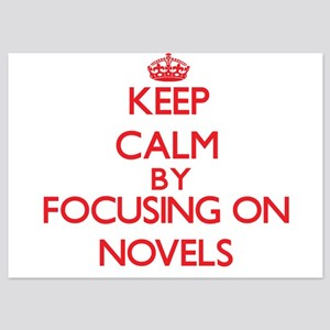 Keep Calm by focusing on Novels Invitations