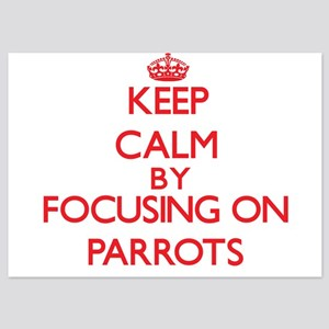 Keep Calm by focusing on Parrots Invitations