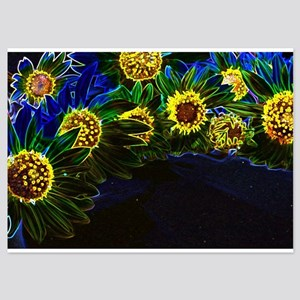 Blacklight Sunflowers Invitations