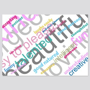 Positive Thinking Text 5x7 Flat Cards