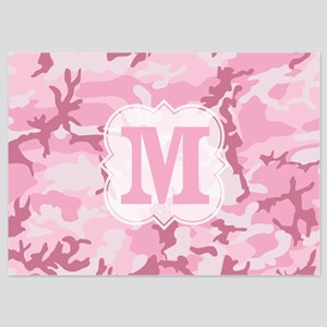 Monogram Pink Camouflage Invitations