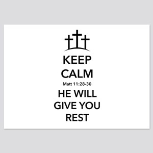He'll Give Rest 5x7 Flat Cards