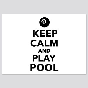 Keep calm and play pool billiards 5x7 Flat Cards