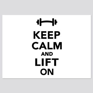 Keep calm and lift on weights 5x7 Flat Cards