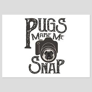 Pugs Make Me Snap 5x7 Flat Cards