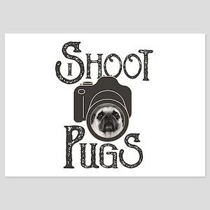 I Shoot Pugs 5x7 Flat Cards