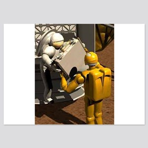 space robots 5x7 Flat Cards