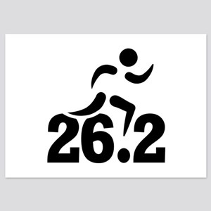 26.2 miles marathon 5x7 Flat Cards