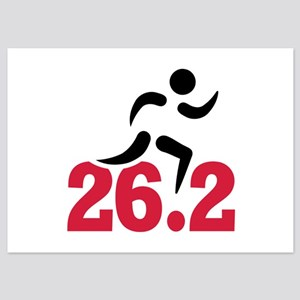 26.2 miles marathon runner 5x7 Flat Cards