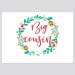 Floral Wreath Big Cousin 5x7 Flat Cards
