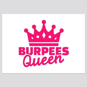 Burpees queen 5x7 Flat Cards