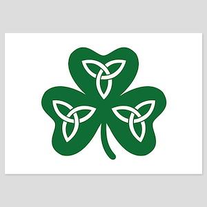 Shamrock celtic knot 5x7 Flat Cards