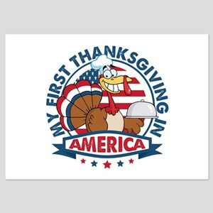 1st Thanksgiving In America 5x7 Flat Cards