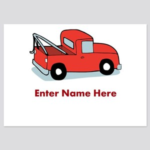 Personalized Tow Truck 5x7 Flat Cards
