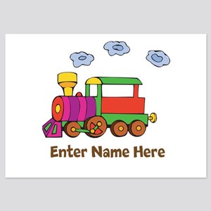 Personalized Train Engine 5x7 Flat Cards
