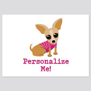 Custom Pink Chihuahua 5x7 Flat Cards