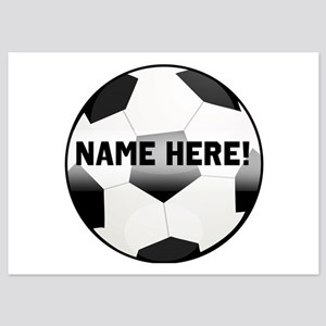 Personalized Name Soccer Ball 5x7 Flat Cards