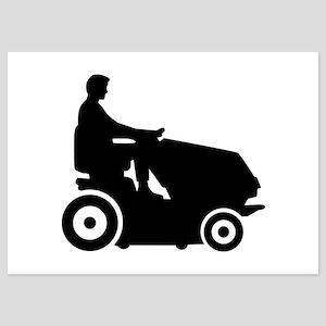 Lawn mower driver 5x7 Flat Cards
