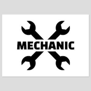 Crossed screw wrench mechanic 5x7 Flat Cards
