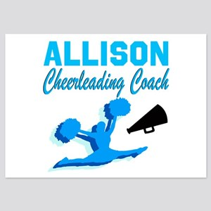 CHEERING COACH 5x7 Flat Cards