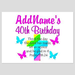 LOVING GOD 40TH 5x7 Flat Cards