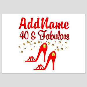 40TH STILETTO 5x7 Flat Cards