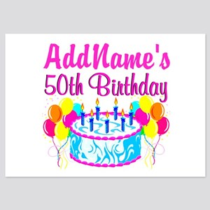 50TH PARTY 5x7 Flat Cards
