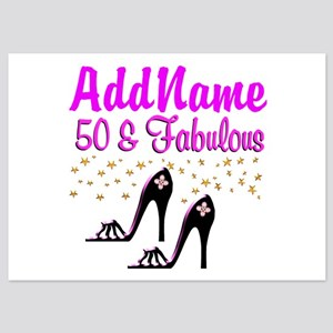 50TH SHOE QUEEN 5x7 Flat Cards