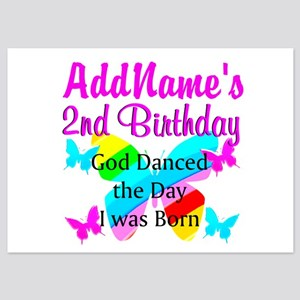 BLESSED 2 YR OLD 5x7 Flat Cards
