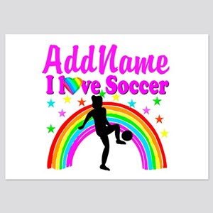 SOCCER PLAYER 5x7 Flat Cards