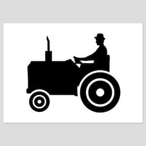 Farmer tractor 5x7 Flat Cards