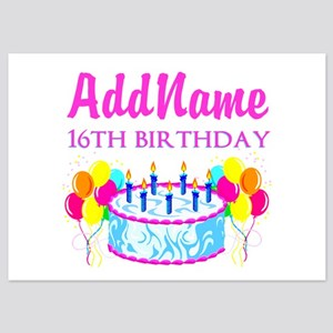 16TH BIRTHDAY 5x7 Flat Cards