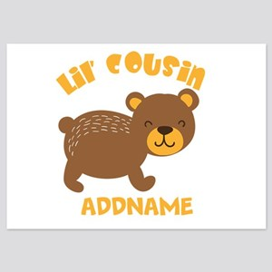 Personalized Name Little Cousin 5x7 Flat Cards