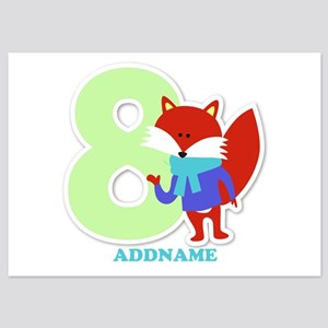 8th Birthday Personalized Name 5x7 Flat Cards