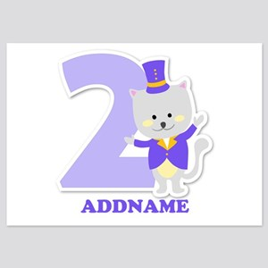 2nd Birthday Personalized Name 5x7 Flat Cards